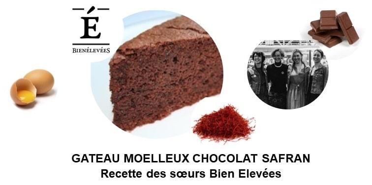 Gâteau moelleux chocolat safran