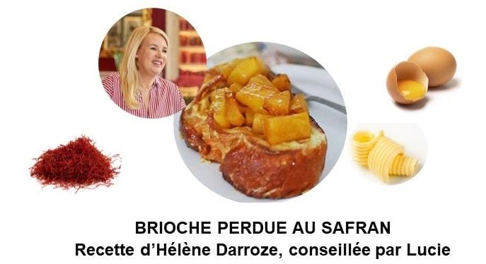 Brioche perdue au safran d'Hélène Darroze (8 personnes)