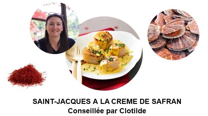 Poêlée de Saint-Jacques à la crème de safran