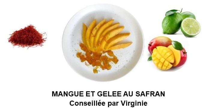 Mangue et gelée au safran (4 personnes)