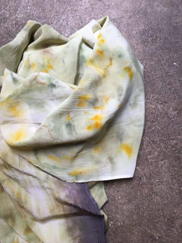 Foulard soie teinture végétale