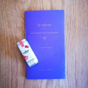 Carnet de recettes au safran et une dose de safran